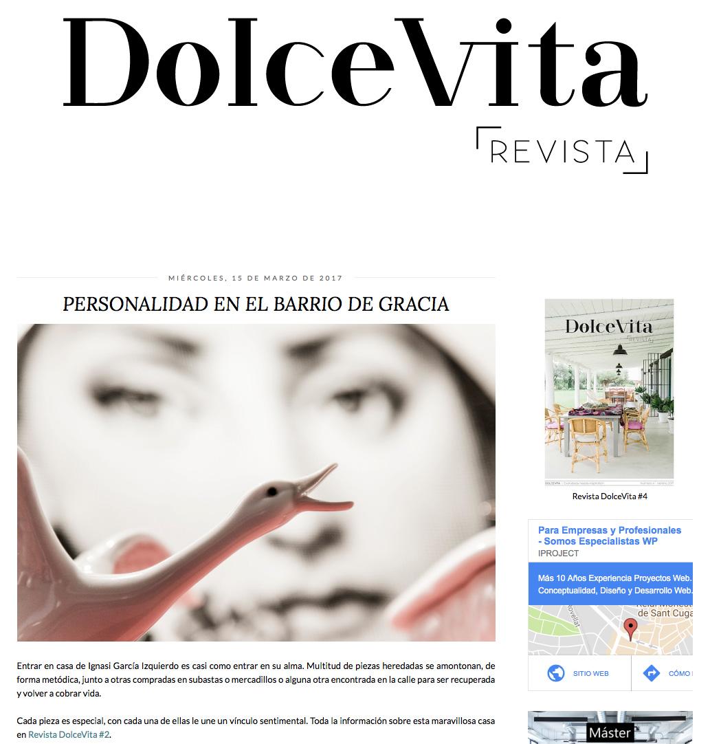 Publicación! Gracias DOLCE VITA